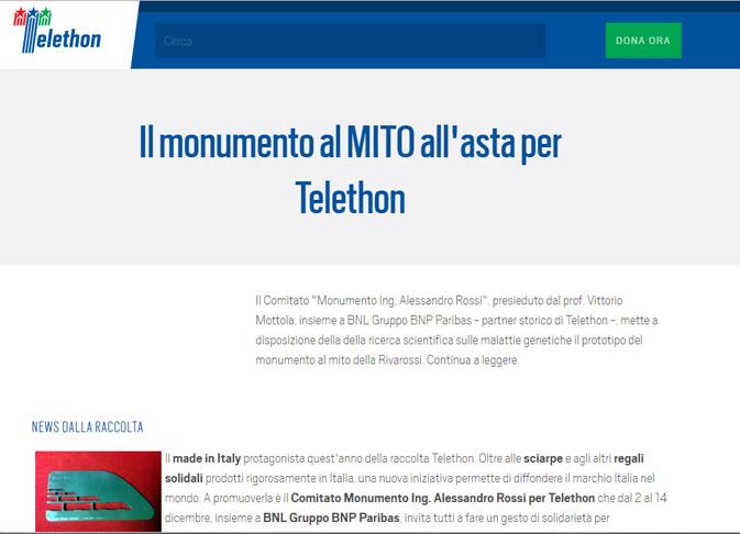 Modello monumento rivarossi asta telethon Paolo Albano Architetto Como