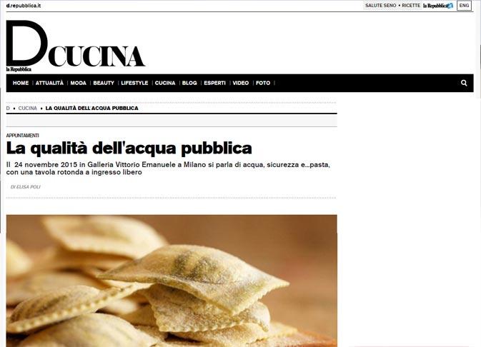 Urban Center Milano D la Repubblica cucina acqua pulita architetto paolo albano