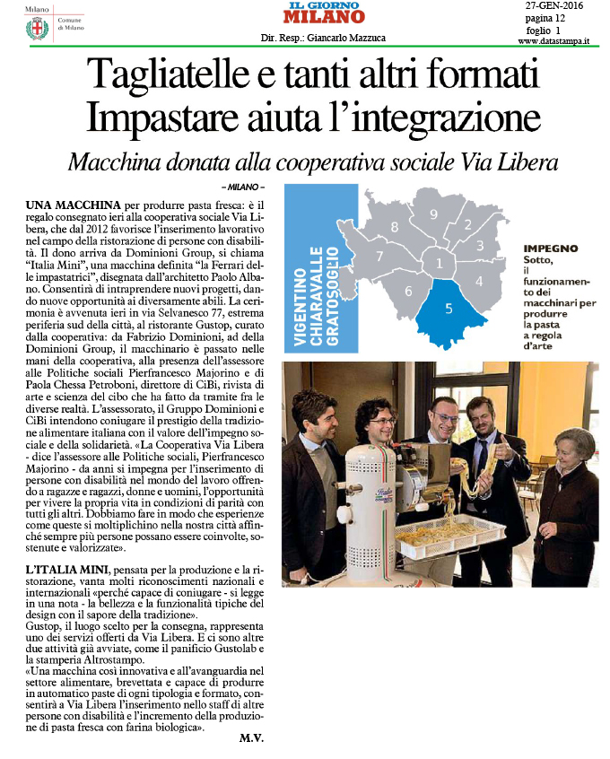 Il Giorno Italia Mini Cooperativa Via Libera Paolo Albano Architetto Como