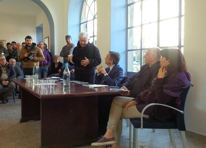 Inaugurazione Villa Calderara Exodus Presentazione Don Mazzi Paolo Albano Architetto Como