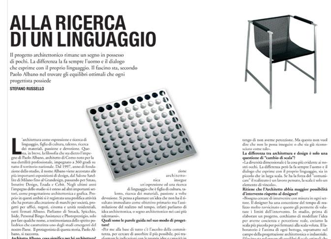 Intervista de Il Giornale Paolo Albano Architetto Como