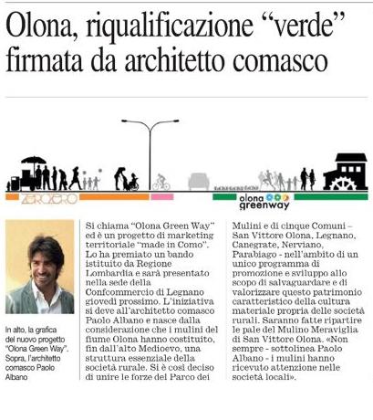 Olona Greenway Paolo Albano Architetto Como